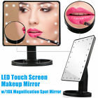 22 LED Light Makeup Mirror Portable Vanity Lighted 10X Magnification Adjustable
