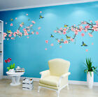 US Room Peach Blossom Flower Butterfly Wall Stickers Vinyl Art Decal Decor Mural