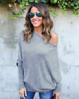 Oversize Women Off Shoulder Batwing Sleeve Knit Sweater Tops Pullover Outwear US <br/> US Stock *Oversize S-M-L-XL* 5 Colors * Womens Sweater