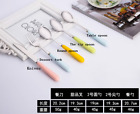 Cartoon stainless steel Japanese style Lovely Flatware spoon Soup Milk Tea cute