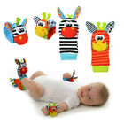 1 PCS Cute Animal Infant Baby Kids Hand Wrist Bells Foot Sock Rattles Soft Toys