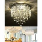 Elegant Crystal Chandelier Ceiling Light  Antique Lamp Pendant Lighting Fixture