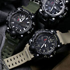 SMAEL Mens Sport Military Watch LED Dual Display Electronic Digital Wristwatches image