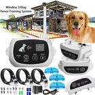 Pet 1-3 Dogs Fence Wireless Training Containment System Collar Rechargeable IP68