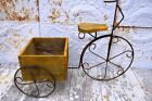 """36"""" Wrought Iron Basket Cart Plant Stand"""