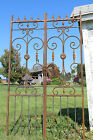 Wrought Iron Heavy French Center Divide Gate Trellis for Vines Garden Accent