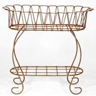 Wrought Iron Scallop Plant Stand Decorative Container for Potted Plants