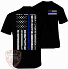 NYPD Shirt T-Shirt Thin Blue Line Flag USA Decal Sticker Patch Emblem Apparel