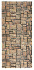 CUSTOM SIZE TERRACOTTA Color Non-Slip Memory Foam Rubber BRICK STONE Runner Rug
