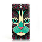 DYEFOR AZTEC ANIMALS CAT 1 PHONE CASE COVER FOR SONY XPERIA