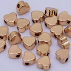 Tiny spacer beads heart round brass Beads connector beads Jewelry 20pcs 10201