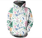 Christmas New Women's Hoodies New Long-Sleeve Sweater Hoodie Jacket Jacket white