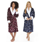 Ladies Star Shawl Collar Dressing Gown Ladies Supersoft Bathrobe Christmas Gift