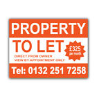 Property To Let Correx Sign Boards Estate Agent House Signs X 2 (CORCP00034)