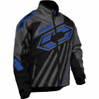 Castle X Men's Launch SE G2 Black/Gray/Blue Insulated Snowmobile Jacket 70-9126
