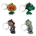 4pcs Plants vs. Zombies Cartoon Figure Key Chain PVC Key Ring Key Holder Pendant