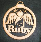 MDF Laser Cut ANGEL Christmas Tree Decoration - Personalised - ADD YOUR NAME
