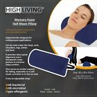 Highliving®Half Moon Memory Foam Cushion - Bed Back Neck Leg Knee Pillow Support