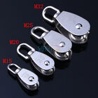 Stainless Steel 304 Single Wheel Swivel Pulley Block Size Option M15/20/25/32 LJ