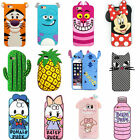 3D Cartoon Soft Silicone Gel Rubber Case Cover Back Skin For Various Phone 7/7+P