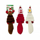 Hyper Dog Plush Crinkle Tail Bell Noise Holiday Pet Chew Play Toy