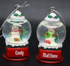 Ganz Personalize Snowglobe Snow Globe Ornament Names Starting with R S T V W Z