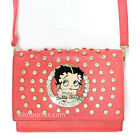 Betty Boop bling circle quilted stitch cross shoulder party bag purse Rhinestone $25.15 USD