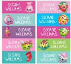 60 Personalized kid Name back to school Stickers shopkins strawberry kiss
