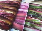 "Hand Dyed USA 1"" VELVET RIBBON RAYON 1yd on the BIAS Edging Headband Flowers"