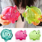 Clear Kawaii PIGGY Bank Coin Money Plastic Cash Openable Saving Box Kid Newest #