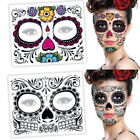 2Pcs Day of The Dead Dia De Los Muertos Face Mask Sugar Skull Tattoo Halloween $0.77 USD