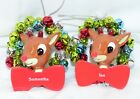 Rudolph The Red Nosed Reindeer Personalized Ornaments Names A - E
