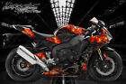 "HONDA CBR1000RR 2008-2018 GRAPHICS WRAP FOR BODY PARTS ""HELL RIDE"" CBR1000 FLAME"
