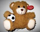"FIESTA TOYS Plush Bear: Soccer, Basket or Foot Ball 8"" Conforms Safety Reg 3+"