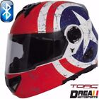 TORC T27B BLUETOOTH MATTE FLAT REBEL STAR MODULAR MOTORCYCLE HELMET DOT XS - XL