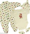 CHRISTMAS Baby Clothes Boxed Gift Set Sleepsuit Bodysuit Hat Booties Boys Girls