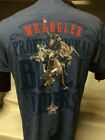 New Mens Western Wrangler T-Shirts Grey PBR