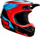 FOX V1 MAKO BLUE/RED HELMET MX ENDURO MTB BMX NORTHAMPTON