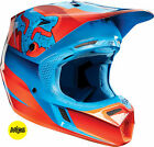 FOX V3 FLIGHT RED/BLUE HELMET MX ENDURO MTB BMX NORTHAMPTON