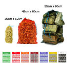 NET SACKS VEGETABLES MESH BAGS LOGS KINDLING WOOD CARROT ONIONS POTATO WASH NEW