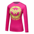 Women's Marvel Superhero Printed T-shirt Workout Compression Long Sleeve Cosplay