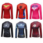 Women's Marvel Superhero Printed T-shirt Workout Compression