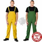 Rain Bib & Brace Wet Work Waterproof Dungarees Workwear Pant Trousers Fishing