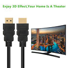 Premium HDMI Cable 1.5ft 6ft 10ft 15ft 25ft 30ft 50ft 75ft 100ft Gold For HD TV