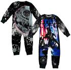 Boys Star Wars Darth Vader Front & Back Print Microfleece Sleepsuit 2 to 8 Years