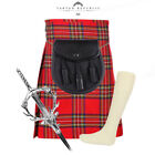 4 PIECE KILT PACKAGE WITH PIN HOSE AND SPORRAN - SIZES 30-44 - ROYAL STEWART