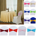 X50 Elasticity Spandex Stretch Chair Cover Band Sashes Buckle Bow Slider Decor