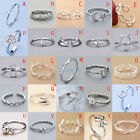 Solid Sterling Silver 925 Adjustable Open Band Midi Ring Index Finger Lady Gift