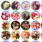 "63 1"" or 30 1.5"" Round Flower Floral Envelope Seal Stickers Gift Wedding Labels"
