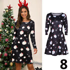 UK Womens Christmas Jumper Dress Santa Snowman Long Sleeves Ladies Mini 6-14 <br/> ==2019 New Style=Royal Mail 1st Class= Fast and Free==